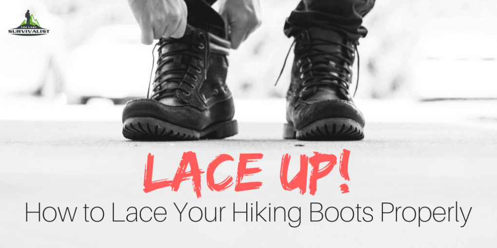 How to lace up hiking boots
