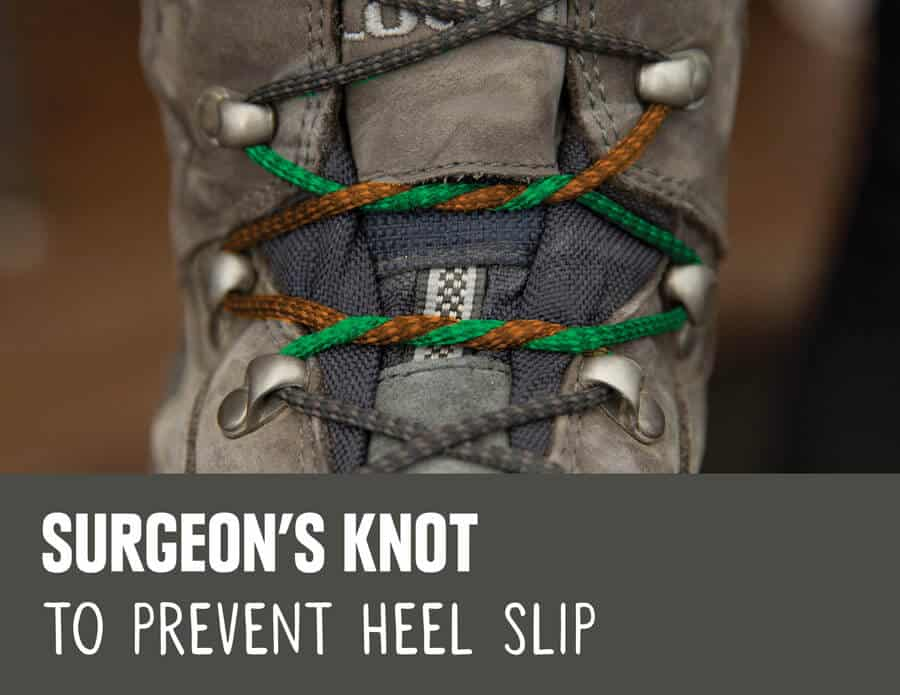 surgeons knot lacing boots